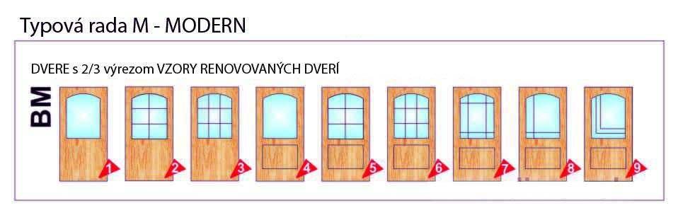 Dvere s 2/3 výrezom – Modern