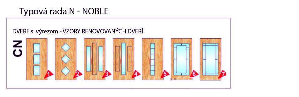 Dvere s výrezom – NOBLE