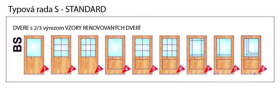 Dvere s 2/3 výrezom – Standard