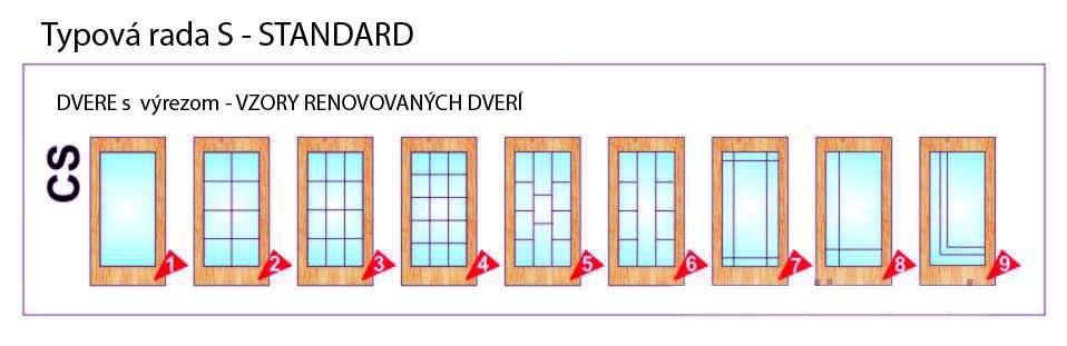 Dvere s výrezom – Standard