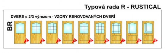 Dvere s 2/3 výrezom – Rustikal
